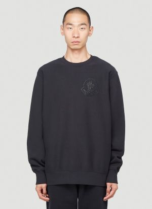 2 Moncler 1952 Embellished Sweatshirt in Black