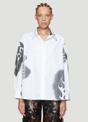 Rave Review Electra Spray Shirt in White