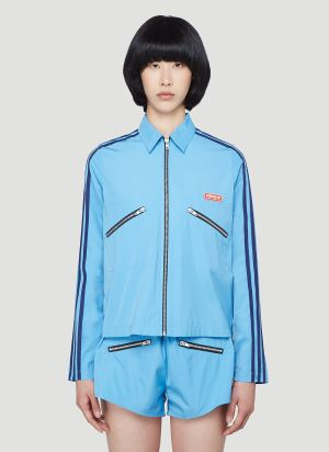 adidas by Lotta Volkova Zip-Up Shirt in Blue