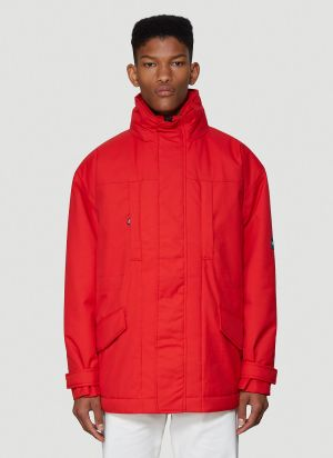 Napa by Martine Rose X Napapijri High-neck Jacket in Red