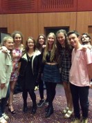 A few of my friends and I at Legally Blonde; Coat - Primark