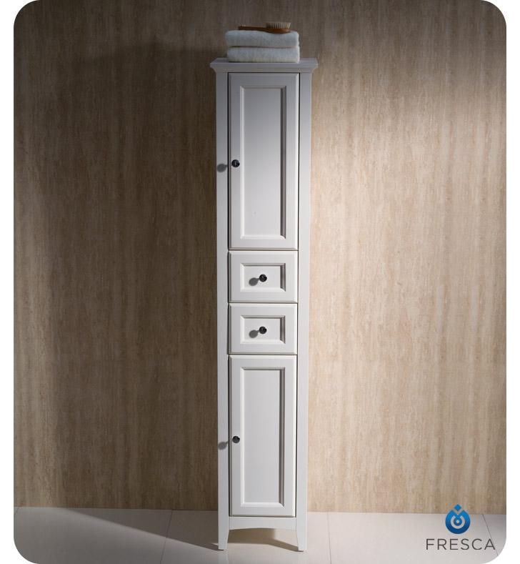 Fresca FST2060AW Oxford Antique White Tall Bathroom Linen