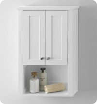 Ronbow 688118-3-W01 Shaker Bathroom Wall Cabinet in White