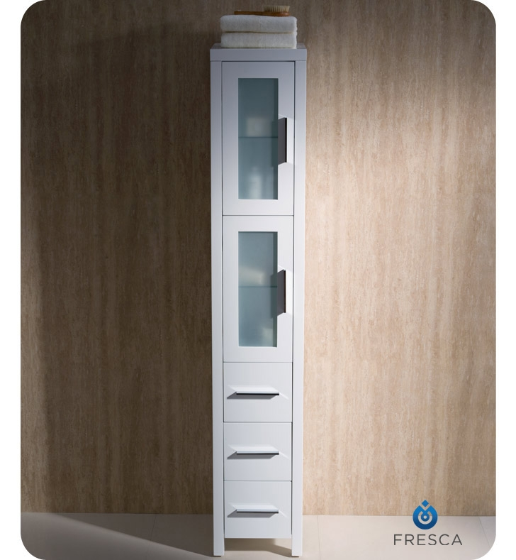 Fresca FST6260WH Torino Tall Bathroom Linen Side Cabinet