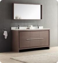 """Fresca FVN8119GO Allier 60"""" Gray Oak Modern Double Sink ..."""