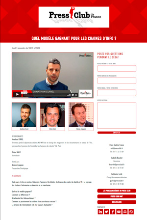 Press Club de France chaines info