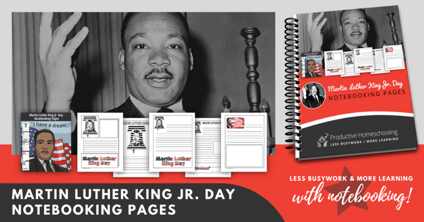 Martin Luther King Jr. Day Notebooking Pages (FREE)
