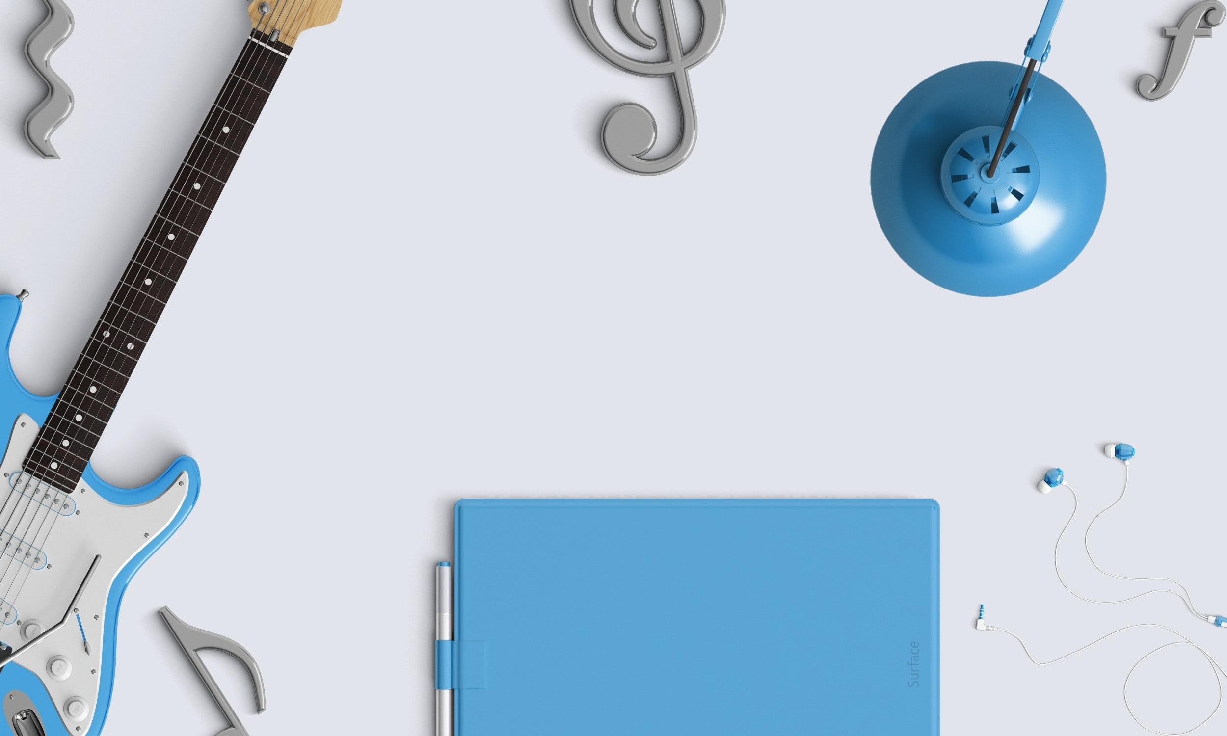 Blue Earphones Equipment