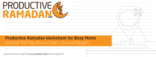 ProductiveRamadan Busy Mom's Worksheet