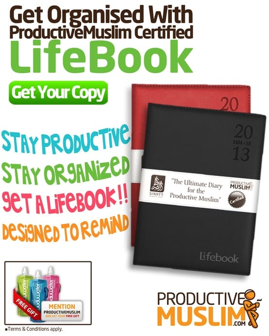 Productive Muslim Certified LifeBooks for 2013 - Order NOW! - Productive Muslim