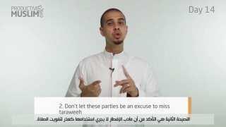 [ProductiveRamadan Online Tips]: Episode 14 – Productive Iftar Parties