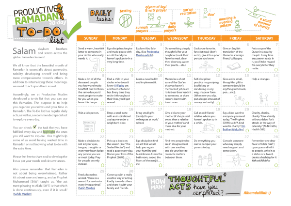 The Mega Ramadan Tools Review Worksheets Planners Apps