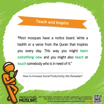 Teach and Inspire | Inspirational Islamic Quotes on Productivity | Productive Muslim