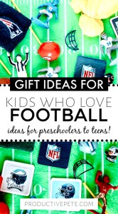 A Unique Gift Guide Of Football Gifts For Kids Productive Pete