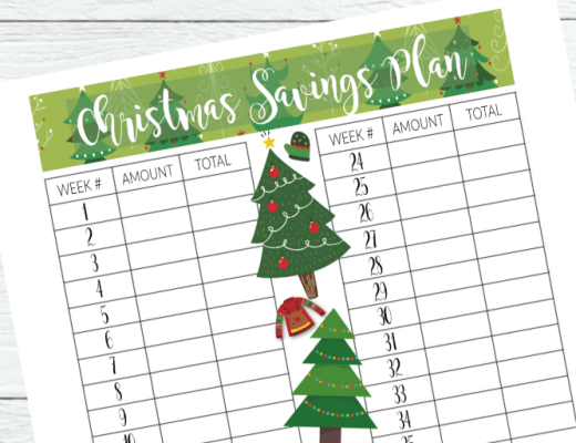 Christmas Savings Plan Printable