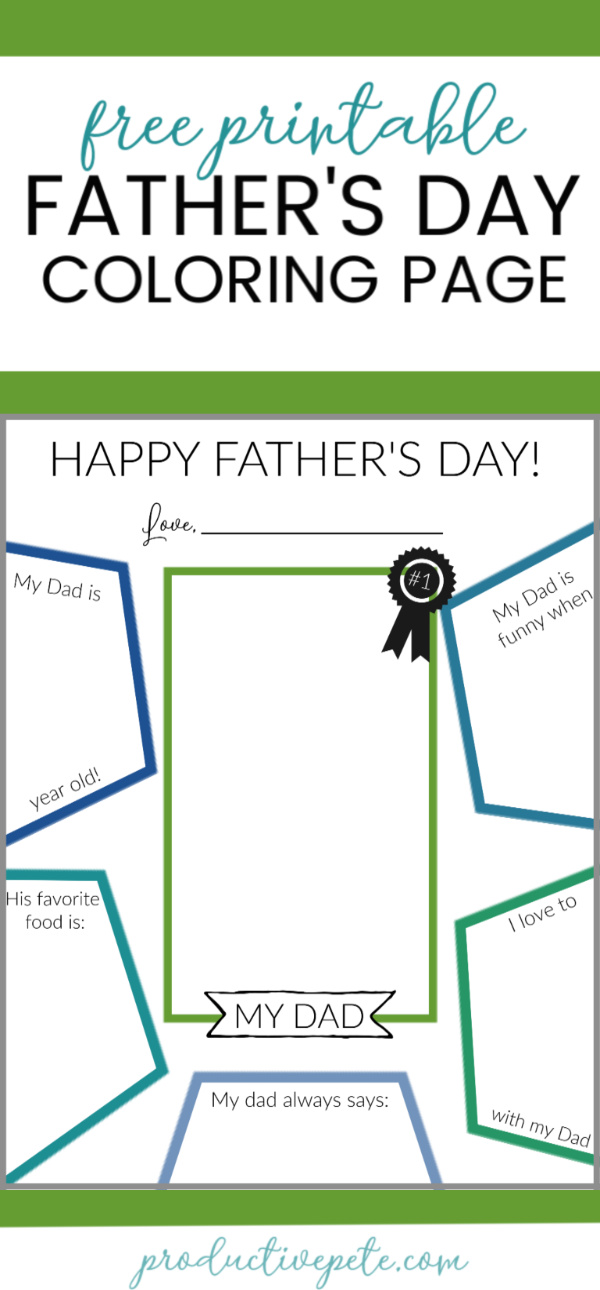 graphic regarding Father's Day Fill in the Blank Printable identified as Printable Fathers Working day Fill Within just Coloring Site for Young children