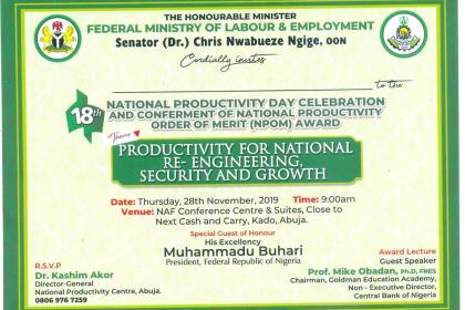 National Productivity Day 2019
