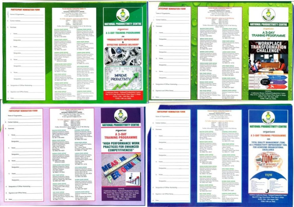 2020 NPC TRAINING FLYERS AND NOMINATION FORMS