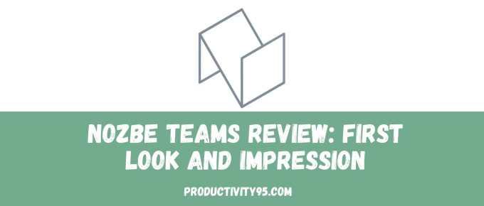 Nozbe Teams review