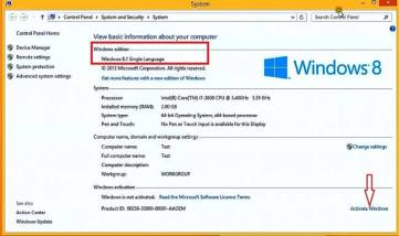 Windows 8 Activator With Product Keys 100% Working