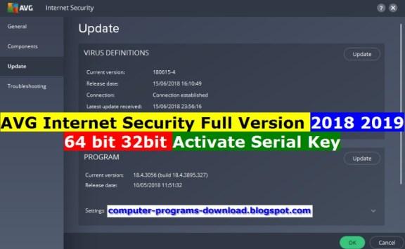 AVG internet security 2019 Serial key Free Download