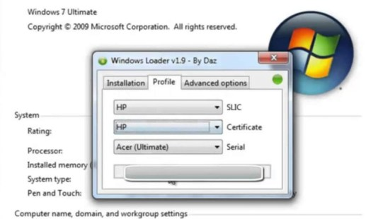 Windows 7 loader Activator Free Download 32bit & 64bit 2019