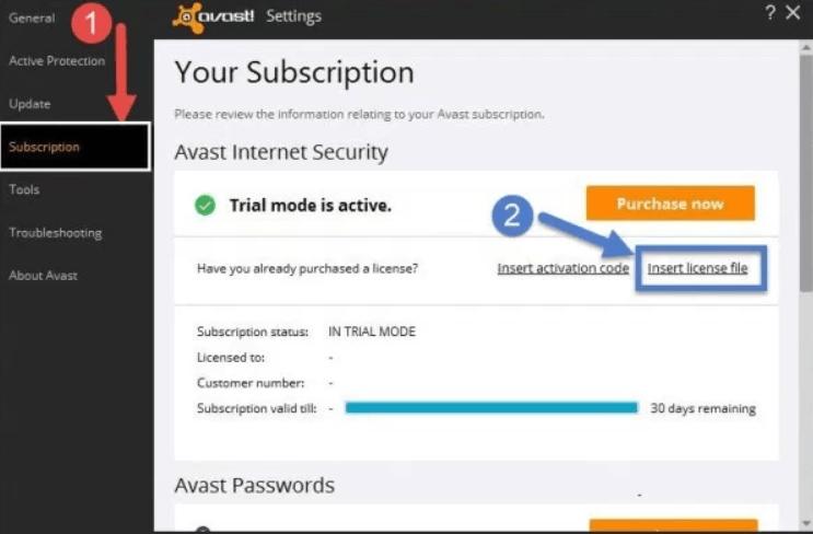 avast activation code