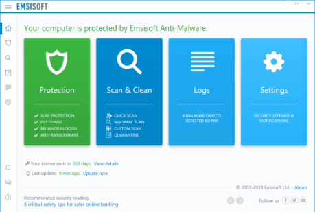 Emsisoft Anti-Malware 2019.3.1.9367 Crack & Activation Code Full Free Download