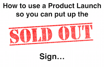 Product Launch Formula Sold Out