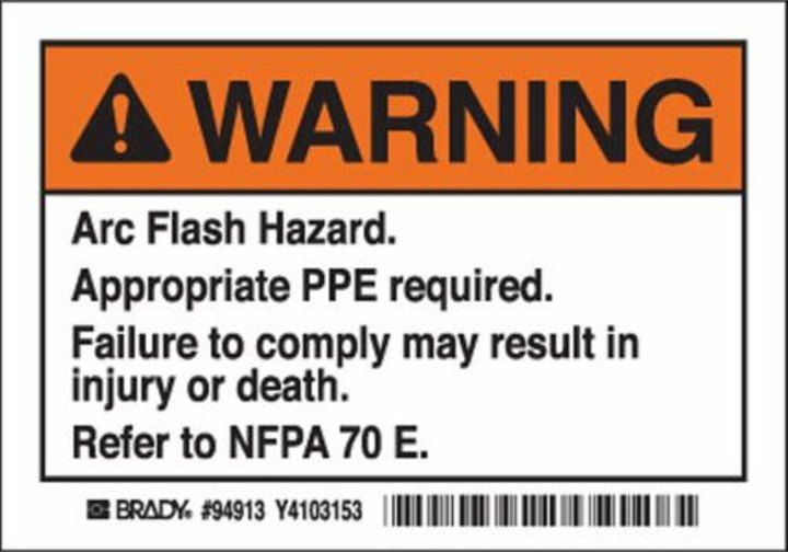 Product Warning Label