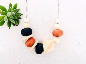 Clay-bead Necklace by Product of Tasmania