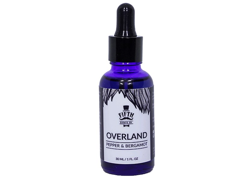 Overland Beard Oil, Pepper & Bergamot