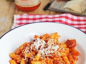 [Receta]Cómo hacer macarrones con chorizo y Tomate MATA. Receta paso a paso gracias a Cocinando entre Olivos