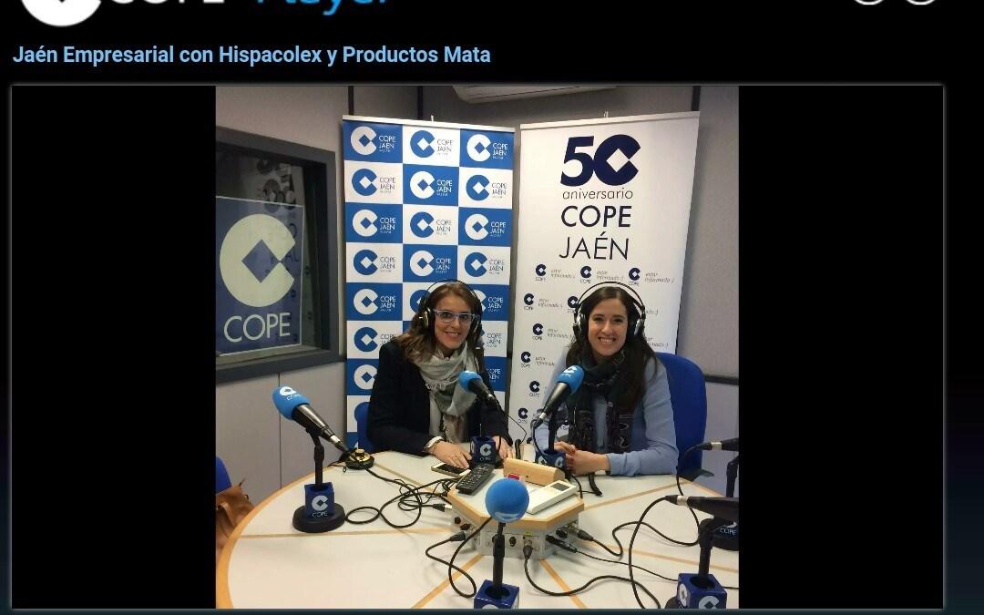 [AUDIO] Escucha la entrevista completa a Productos Mata en @COPEJAEN – @Hispacolex – @maycapalomino