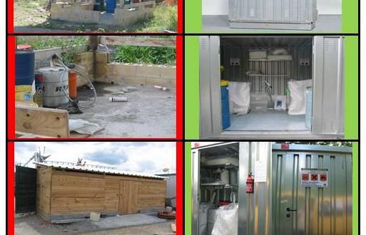 Almacenes prefabricados de almacenamiento de residuos DENIOS