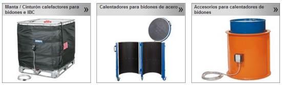 Calefactores para el calentamiento de bidones y GRG