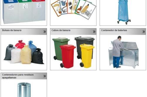 Bolsas, contenedores, recogida selectiva de basura