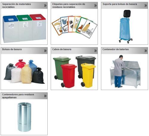 Bolsas, contenedores, recogida selectiva de basura, contenedores de baterías