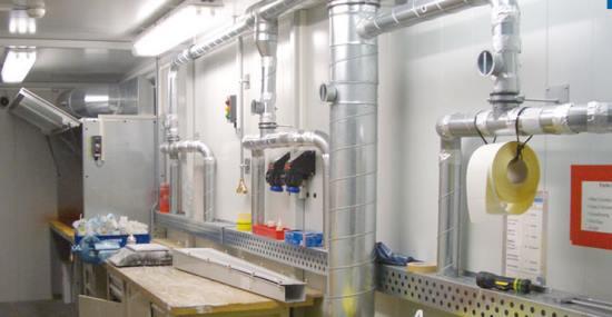 Airbus obtuvo una sala para mezclar pinturas multifuncional en la cual se pueden almacenar productos químicos conforme a la ley y de forma segura.