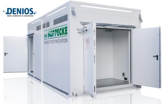Sala técnica de almacenamiento para hidrógeno