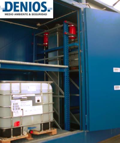 Circulación de ire integrada y extintores de emergencia