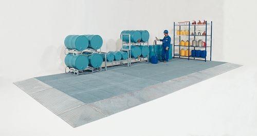 Módulo de un suelo de protección para productos químicos