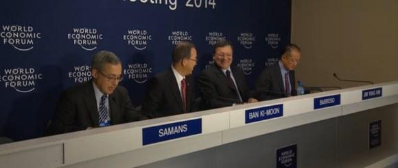 El cambio climático es una amenaza para los negocios como un eje central en Davos