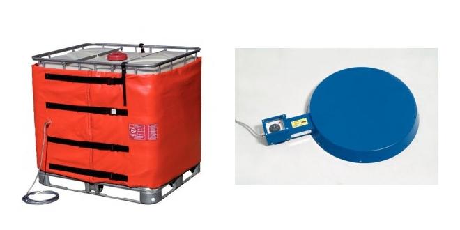 Aclimata sustancias químicas con calentadores y mantas para bidones