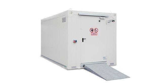 contenedor transitable resistente al fuego