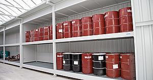 Almacenes para bidones de lubricante