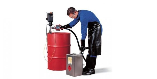 Bomba eléctrica para bidones con productos químicos