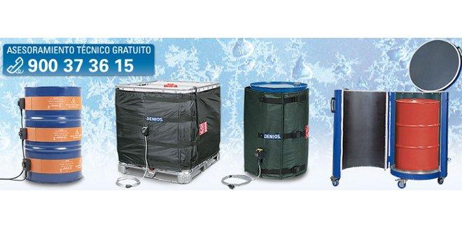 Mantas y cinturones calefactoras para calentar sustancias en invierno