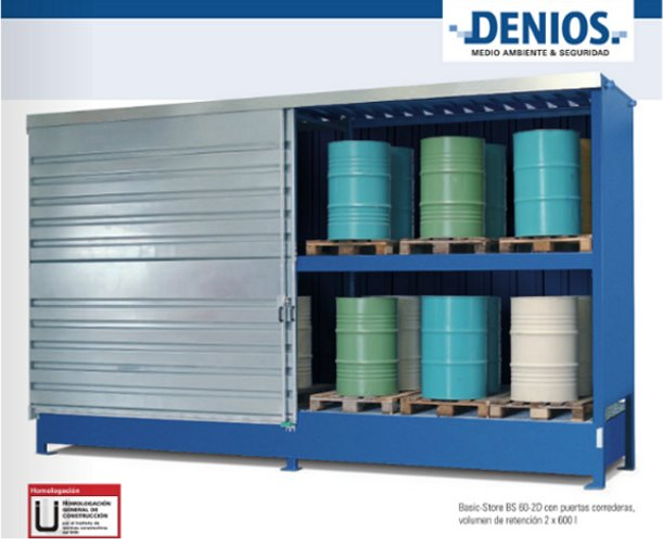 Depósitos y contenedores de almacenamiento para productos químicos: un Basic Store de DENIOS