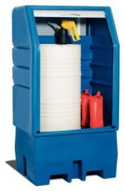 Depósito de plástico DENIOS, PolySafe, para almacenar productos químicos